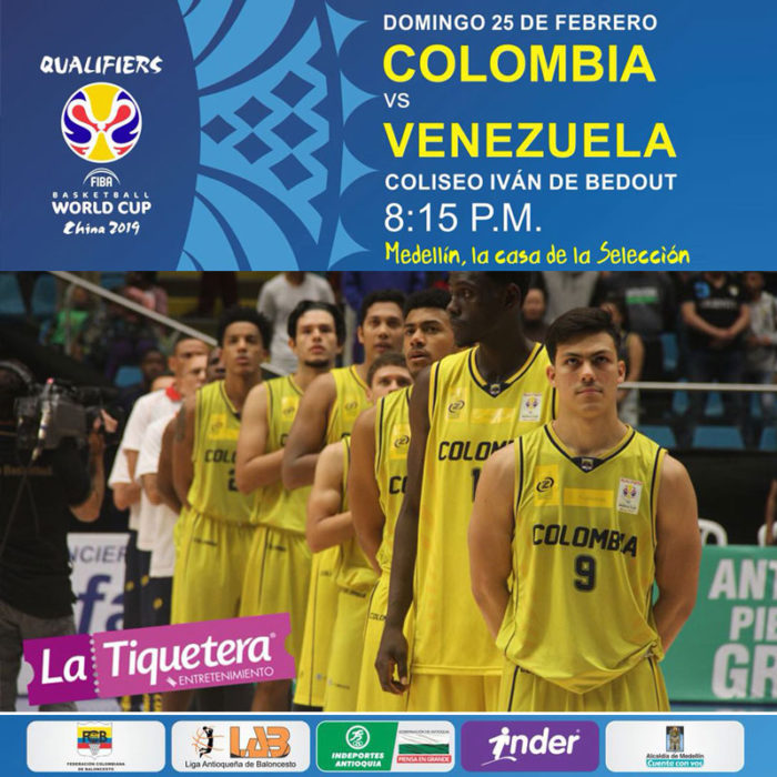 ELIMINATORIAS FIBA MUNDIAL CHINA 2019 COLOMBIA VS VENEZUELA