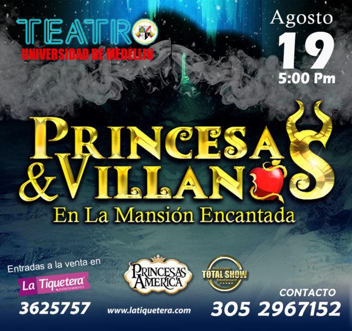 PRINCESAS Y VILLANOS En La Mansión Encantada.