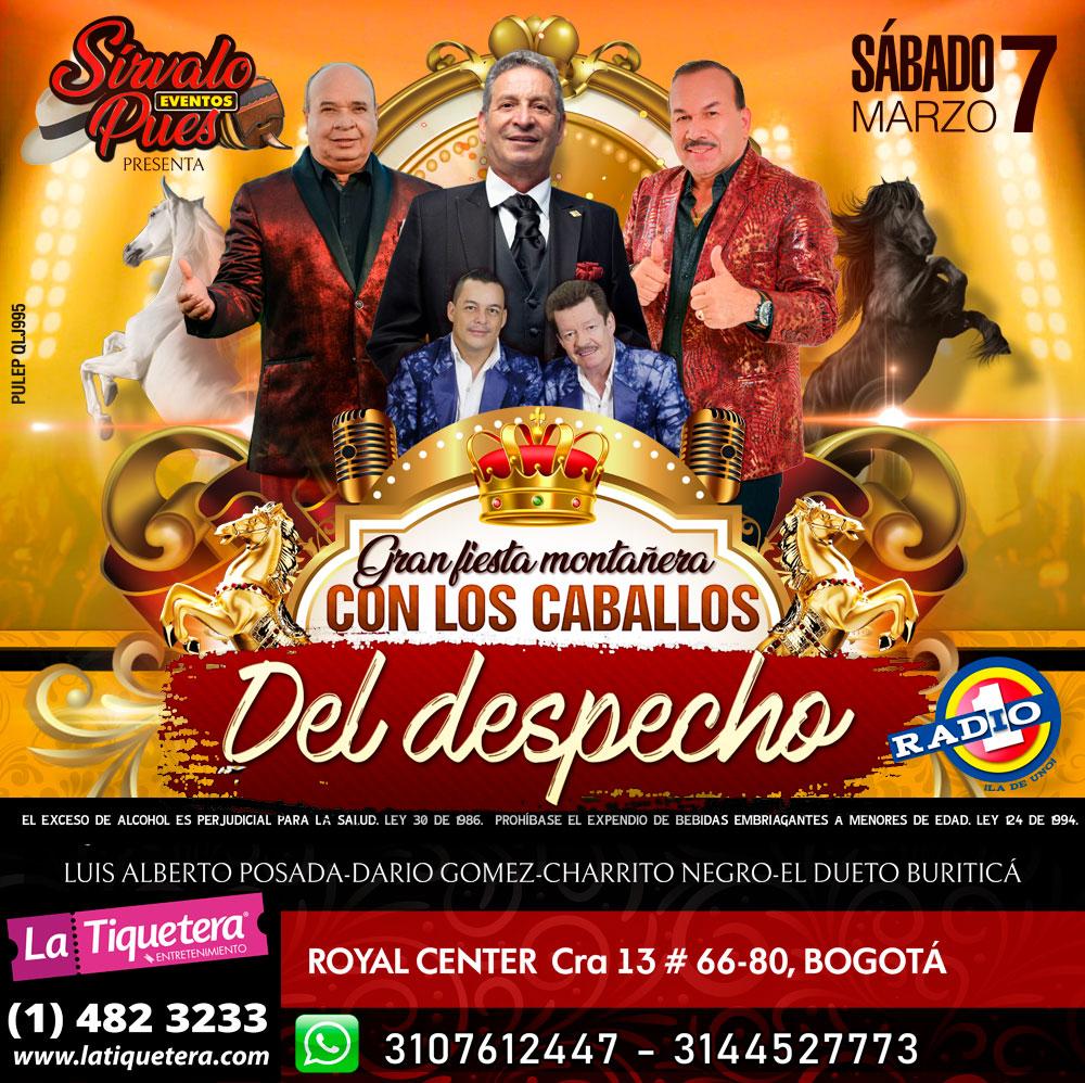 """Gran Fiesta Montañera """"Con Los Caballos Del Despecho"""""""